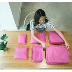 Förvaringsväska Travel 6 st / set  8 färgar rosa