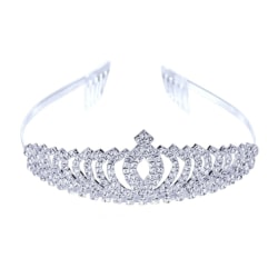 Hårband kristall Tiara krona Bröllops