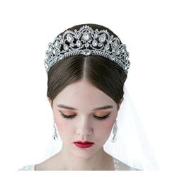 Kristall bröllop hår krona tiara