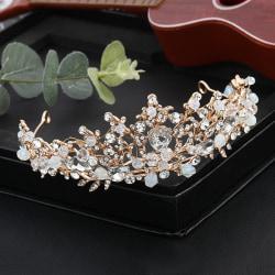 Kristall bröllop hår krona tiara handgjort