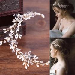 Kvinnor hårband  bröllop diadem Kristall  guld