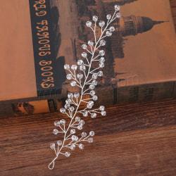 Kvinnor hårband  bröllop diadem silver
