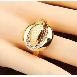 Mode Legering STRASS Yta Twisted Band ring 19