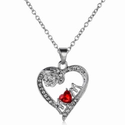 Mors dag Hjärta Halsband silver