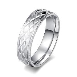 Rostfritt stål ring 19