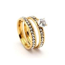 Rostfritt stål ring förlovning 17