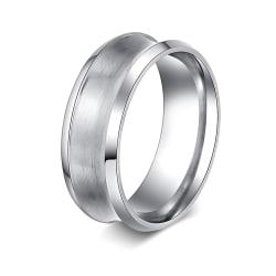 Rostfritt stål ring Förlovningring 21