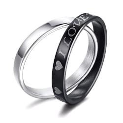 Rostfritt stål ring  Förlovningring 2st / set 20