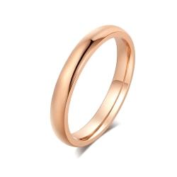 Rostfritt stål ring Förlovningring guldpläterad 20