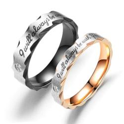 Rostfritt stål ring  förlovningsring  SVART MÄN 21