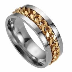 Rostfritt stål ring Guld kedja guld 20