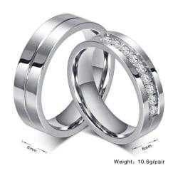 Rostfritt stål ring  guld/silver silver Man 22