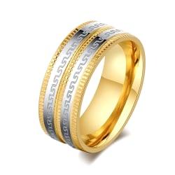 Rostfritt stål ring guldpläterad 17