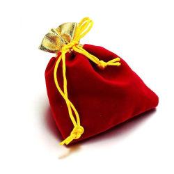 Smyckespåsar RÖD-GULD röd