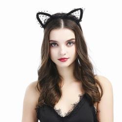 Svart Lace katt - Öron
