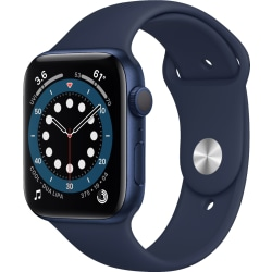 Renoverad Apple Watch Series 6 GPS 44mm blå aluminiumfodral 44 mm