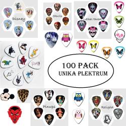 100 pack unika plektrum Storpack 100-unika-pl