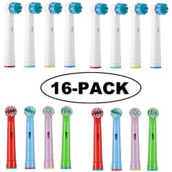 Oral-B kompatibla tandborsthuvuden 16 pack MIX
