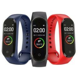 M4 Smart armband färgskärm Fitness stegräknare armband Black