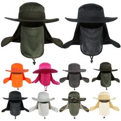 Mesh Fisherman Hat / Andas för full ansiktsskydd / Unis Khaki