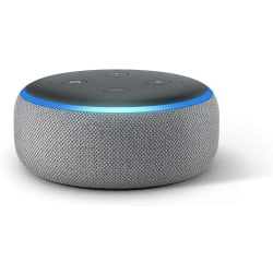 Amazon Echo Dot (3rd gen.) with Alexa - Heather Grey Fabric