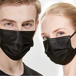 [1-PACK] Munskydd CE-godkänd 3-Lager Ansiktsmask - Skyddsmask
