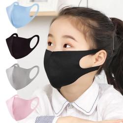 2 Pack Tvättbar mask Munskydd Skyddsmask (Barn) Svart Barn - Svart