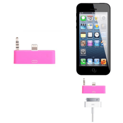 30 pin till lightning 3.5mm audio adapter till iPhone 5S/5 (Mage