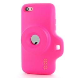 ACA Toy Camera Combo Skal till iPhone 5C (Magenta)