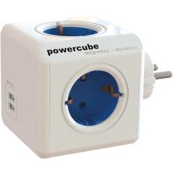 Allocacoc PowerCube grenuttag med 4xCEE 7  /  4-uttag 2xUSB - Vi