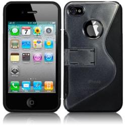 Baksideskal till Apple iPhone 4S/4 (Curve Black)