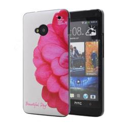 Baksideskal till HTC One (M7) (Rosa Blomma)