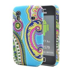 Baksidesskal till Samsung Galaxy Ace - Blåmönstrad