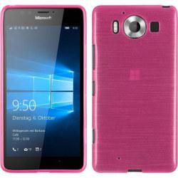 Brushed Flexicase Skal till Microsoft Lumia 950 - Magenta