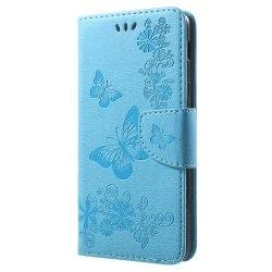 Butterfly Flowers Plånboksfodral Till Samsung Galaxy A6 Plus (20
