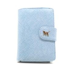 Cho Cho Cat Smart Fold plånbok-mobilväska (Ljus-Blå)