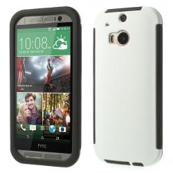 Combo Skal med inbyggd skärmskydd till HTC One M8 (Vit)
