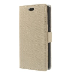 Denim Plånboksfodral till Samsung Galaxy Alpha - Vit