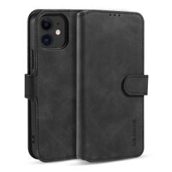 DG.MING Retro Läder Plånboksfodral iPhone 12 Mini - Svart