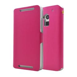 Doormoon Äkta Läder väska till HTC One Max (Magenta)