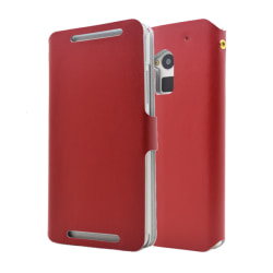 Doormoon Äkta Läder väska till HTC One Max (Röd)