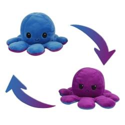 Dubbelsidig Vändbar Octopus Flip - Blå/Lila