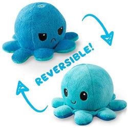 Dubbelsidig Vändbar Octopus Flip - Blå/Ljusblå