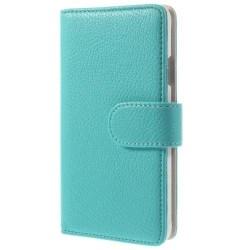 Embossed Plånboksfodral till Samsung Galaxy Alpha - Blå