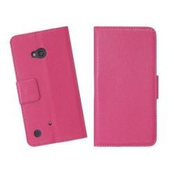 Embossed Plånboksväska till Nokia Lumia 720 (Magenta)