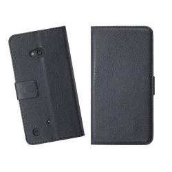 Embossed Plånboksväska till Nokia Lumia 720 (Svart)