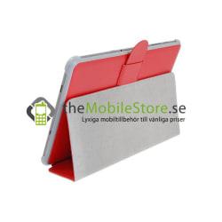 Embossed Slim Stand Väska till Samsung Galaxy Tab 10,1 (RÖD)