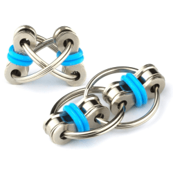 Fidget Chain Ring - Flippy Chain Toy - Blå
