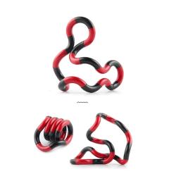 Fidget Twister Toy - Antistress - Sensory - Svart/Röd
