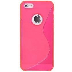 FlexiCase Skal till Apple iPhone 5/5S/SE - S-line (Rosa)